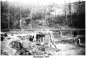 Bauarbeiten 1937 für das Freibad