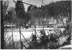 Das Freibad Gräfenberg im Winter.
